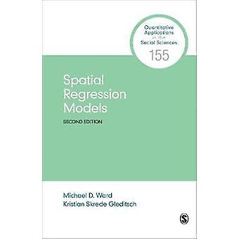 Modelos de regresión espacial de Michael D. Ward - libro 9781544328836