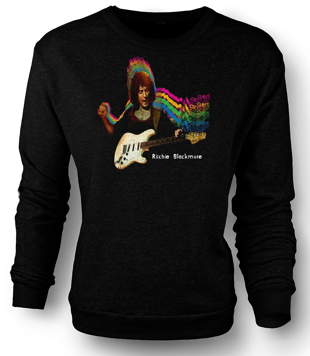 Mens Sweatshirt Richie Blackmore - gitarr Rock Gud