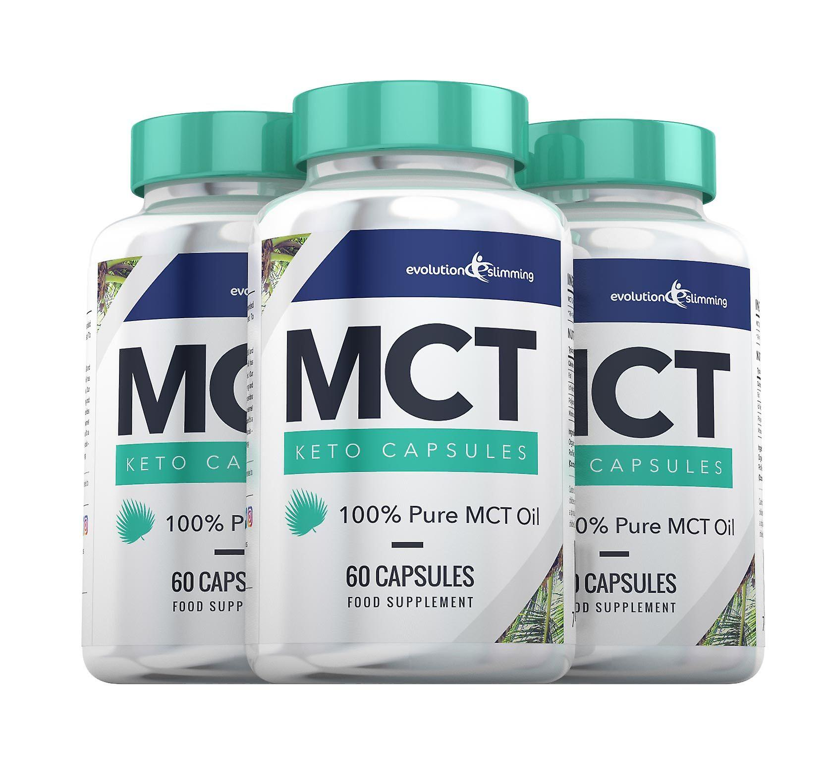 MCT huile céto Capsules 100 % Pure MCT huile - 180 Capsules - Capsules d'huile MCT - Evolution minceur