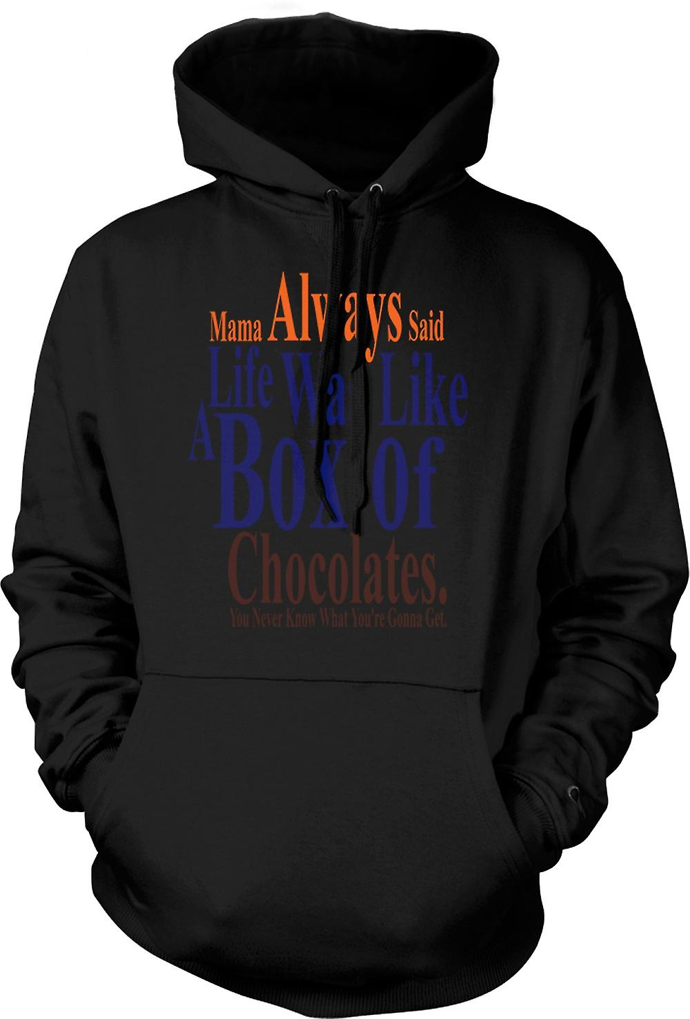 Mens Hoodie - Forrest Gump Box Chocolates - Funny