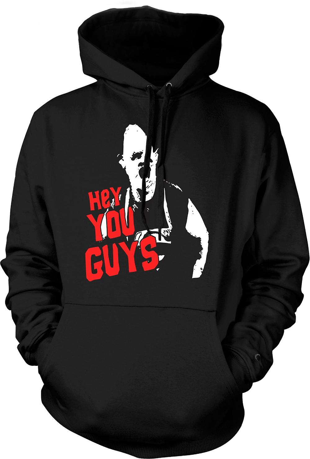 Mens Hoodie - Goonies Sloth Hey You Guys
