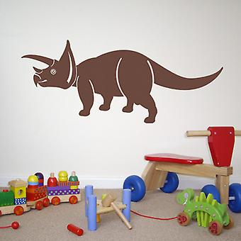 Triceratops dinosaur wall decal sticker