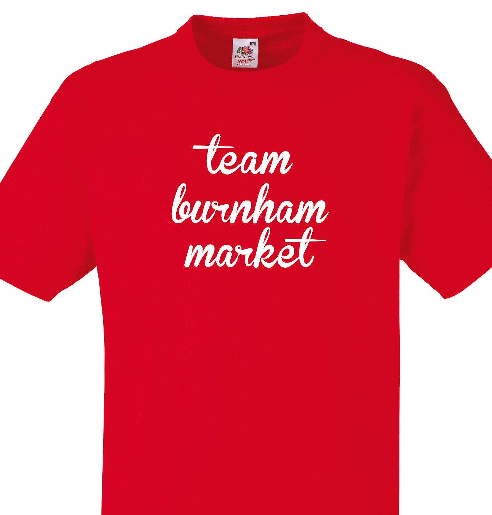 Team Burnham market Red T shirt