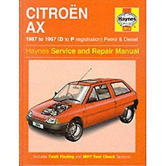 Citroen AX (1987-97) Service and Repair Manual