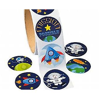 Rol van 100 Outer Space Stickers voor Kids ambachten | Outer Space ambachten
