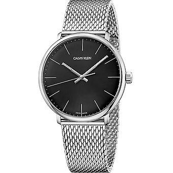Calvin Klein High Noon czarny cyferblat siatki Bransoletki męskie zegarek K8M21121