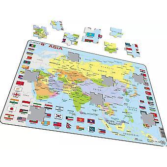 Politische Karte Asien - Frame/Board Jigsaw Puzzle-29 x 37 cm (LRS K44-GB)