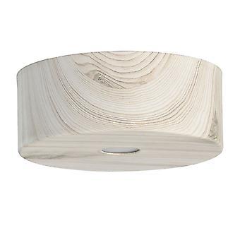 Glasberg - LED semi infälld tak ljus 6 cm vit trä 712010601