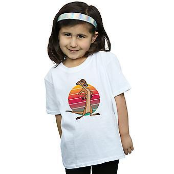 Disney Girls The Lion King Timon Sunset T-Shirt