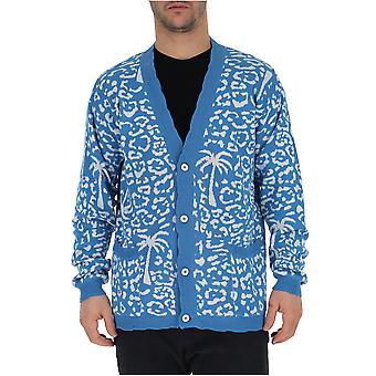 Laneus Light Blue/white Cotton Cardigan