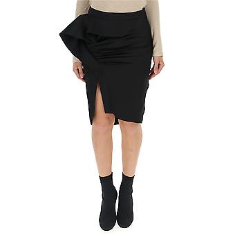 Givenchy Black Synthetic Fibers Skirt