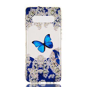 MTK Samsung Galaxy S10 + TPU-mariposas y flores