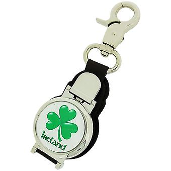 Boxx Gents Irish Shamrock Picture Keyring Fob Watch, Magnetic Closure Boxx347
