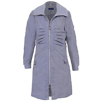Ladies Long Sleeve Shower Proof Lightweight Women's Casual Raincoat Jacket