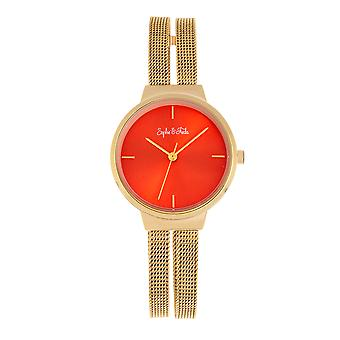 Sophie and Freda Sedona Bracelet Watch - Rose Gold/Blue