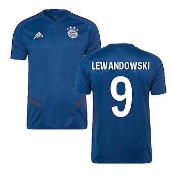 2019-2020 Bayern Munich Adidas Training paita (Night Marine) (LEWANDOWSKI 9)