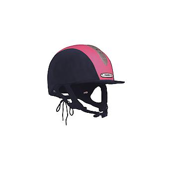Kampioen Junior X-Air Plus Riding Hat-Navy/fuchsia roze