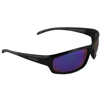 Sonnenbrille Sport Rechteck polarisierendes Glas schwarz blau mehrfarbig FREE BrillenkokerS329_4