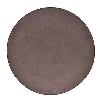 Underlay leather/Leather look grey Round 4-pack tablet