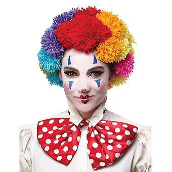 قوس قزح بوم بوم مهرج المنحدرين من أصل أفريقي جيئة وذهابا السيرك هالوين النسائي رجالي أزياء شعر مستعار