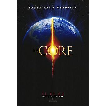 Core (kaksipuolinen ennakko) alkuperäinen elokuva juliste