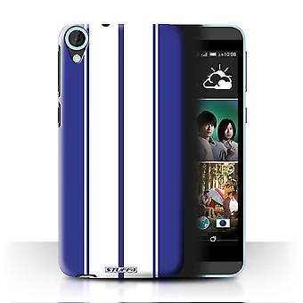 STUFF4 Case/Cover for HTC Desire 820q Dual/Shelby/Blue/Racing Car Stripes