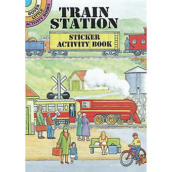 Dover Publications Train Station Sticker Activity Book Dov 40512