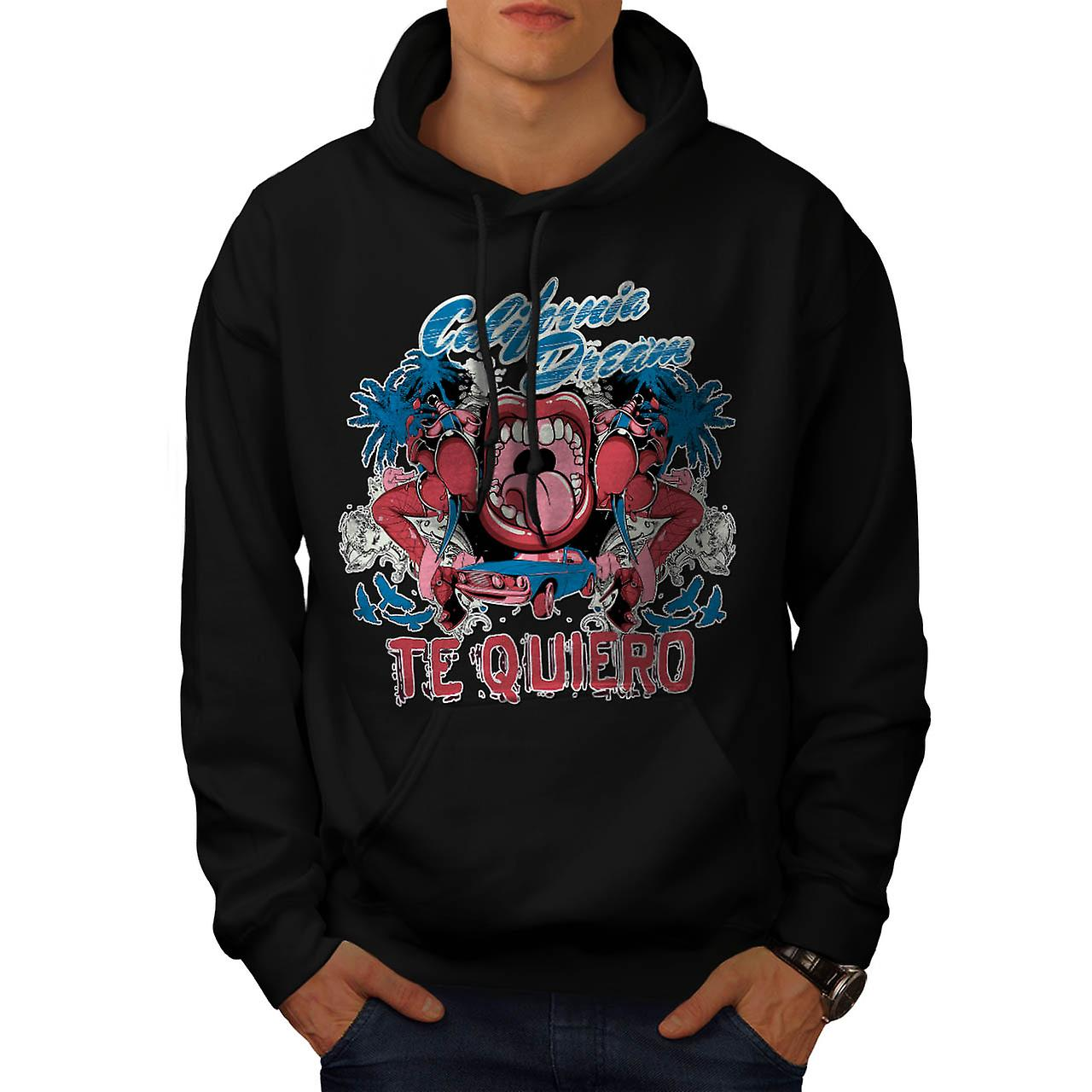 California Dream Girl Love vous hommes Black Hoodie | Wellcoda