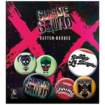 Suicide Squad Button Badge Set