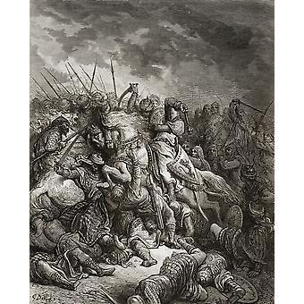 Richard The Lionheart In Battle At Arsuf In The 3Rd Crusade 1187 1192 Richard I Aka Richard The Lionheart English Monarch PosterPrint