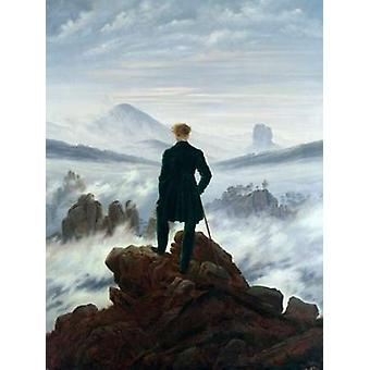 Wanderer Above the Sea of Fog Poster Print by Caspar David Friedrich