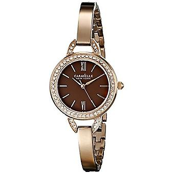 Caravelle New York Women's 44L134 Stainless Steel Crystal-Accented Watch