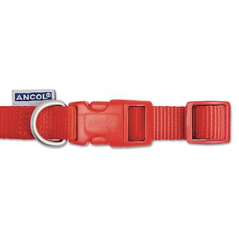 Heritage Nylon Adjustable Collar Red 25mm X45-70cm Sz5-9