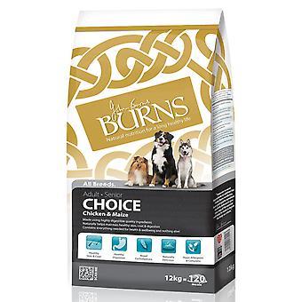 Burns valg voksen & Senior komplet kylling & majs 12kg