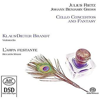 Rietz / bruto / Brandt / Minasi - conciertos para violonchelo y fantasía [SACD] USA import