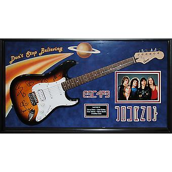 Journey Signed Guitar Don't Stop Believing Custom Framed