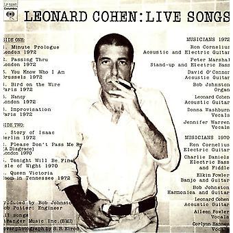 Leonard Cohen - Live sange [Vinyl] USA import