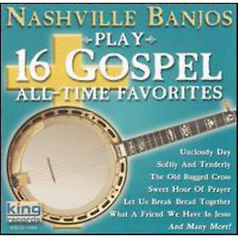 Nashville Banjos - Play 16 Gospel All Time Favorites [CD] USA import