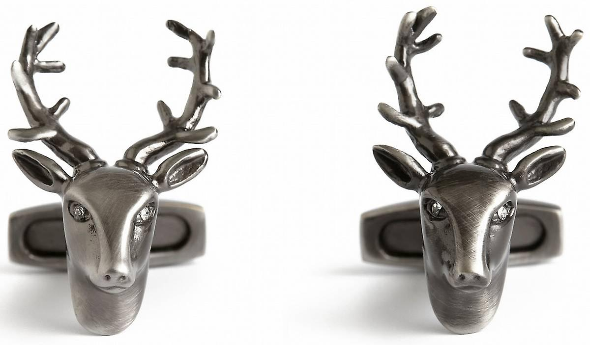 Simon Carter Pursuits Stag Head Cufflinks - Silver