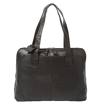 Ashwood Ela 1086 Choc.brn Leather Handbag