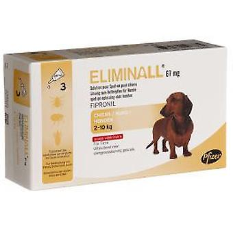 Zoetis Eliminall 67 Dogs 2-10 Kg 3 Pipettes (Garden , Animals , Dogs , Anti parasitic)