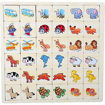 Legler Memory Puzzle - Vehicles and Animals (Toys , Boardgames , Skills)