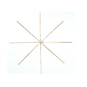 4 Wire Stars for Beadwork - 10cm | Wire Christmas Decorations