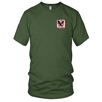 Attack On America 9-11-01 Terrorism Flag Embroidered Patch - Mens T Shirt