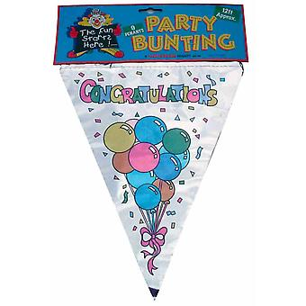Congratulations Bunting 3.6m - Triangular Pennant Bunting