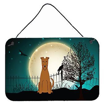 Halloween Scary Irish Terrier Wall or Door Hanging Prints