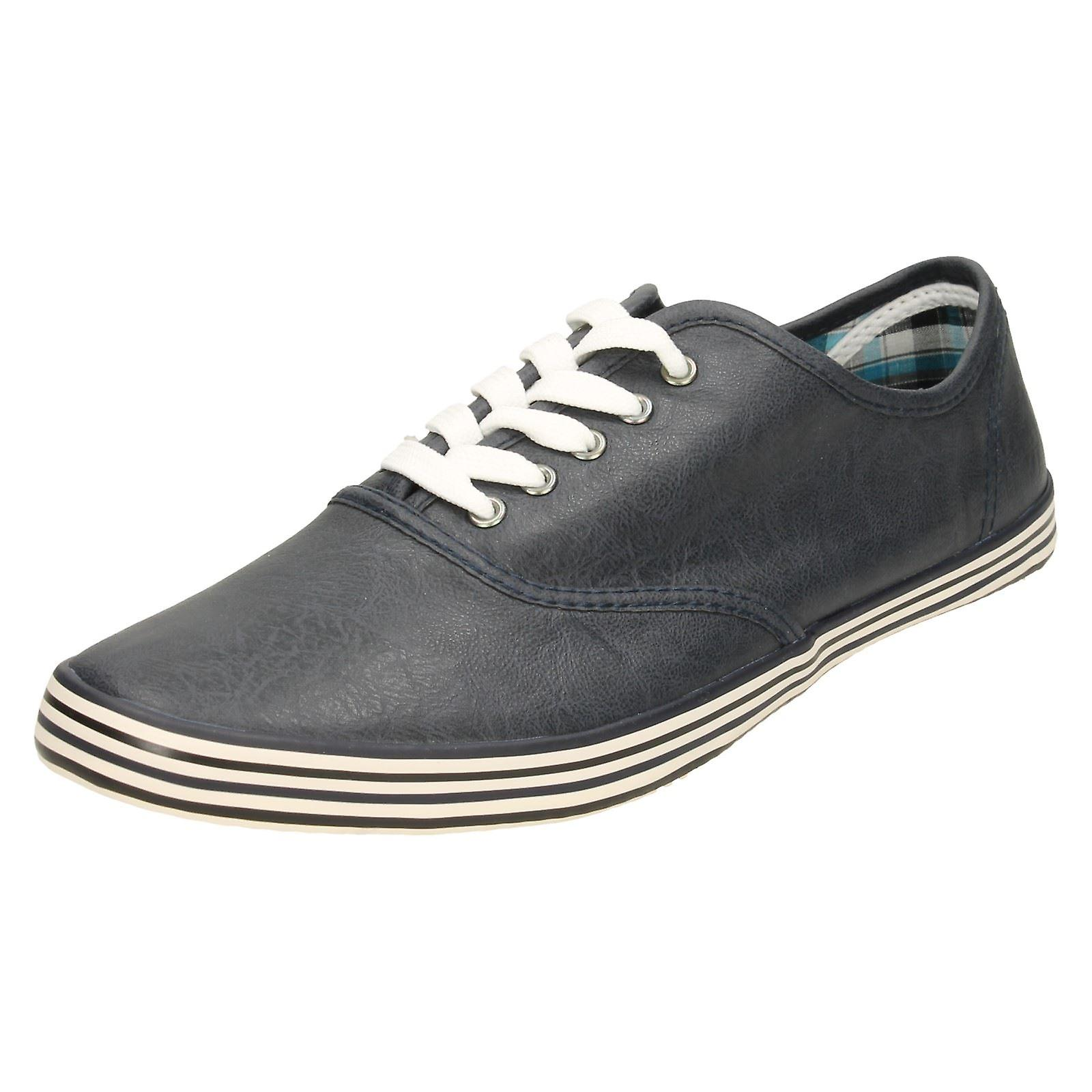 Mens Spot On Flat Lace Up Shoe