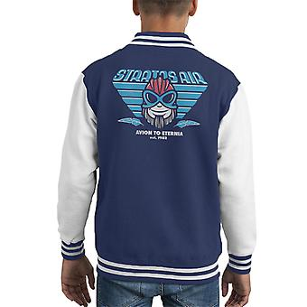 Egli uomo Stratos Avion di Varsity Jacket Eternia capretto