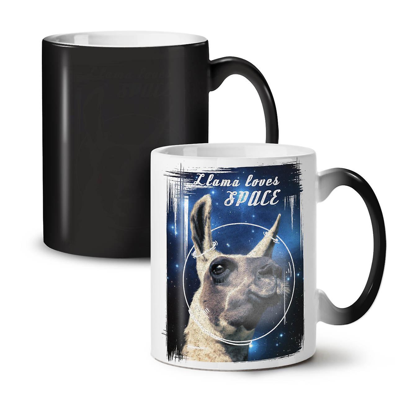 Mug Changing OzWellcoda Ceramic Animal 11 Being Black New Colour Coffee Llama Tea my8Ov0Nnw