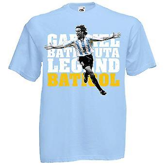 T-shirt Argentina Gabriel Batistuta Legend (cielo)